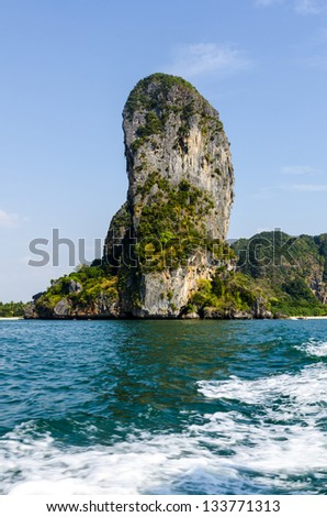 rocks on the shore of the Andaman Sea in Thailand