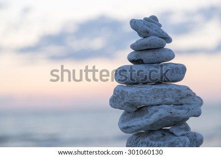 Rocks Piled on Each Other by Ocean