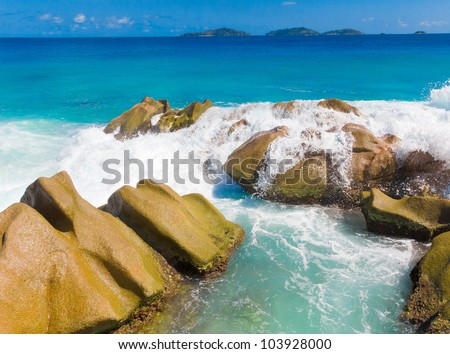 Rocks Stones Summer - stock photo
