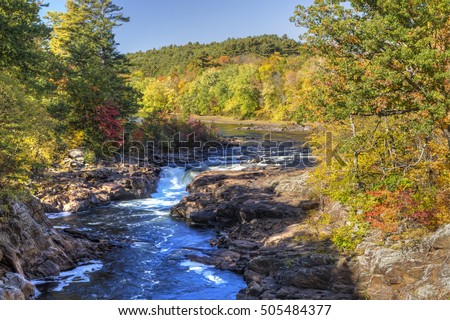 Rockwell Falls on the Hudson RIver in the town of Lake Luzerne in the Adirondack Mountains of Nw York