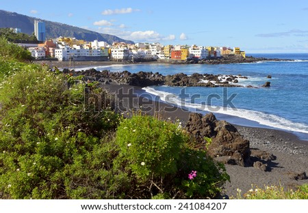 Puerto de la cruz stock images royalty free images vectors shutterstock - Playa puerto de la cruz tenerife ...
