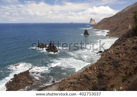 Rocky Beach in Tenerife, Canary Islands
