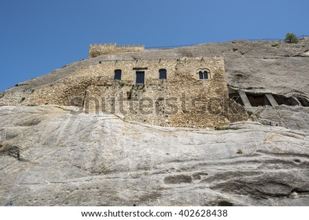 rocky castle in Sicily, Sperlinga, Enna, Italy, Europe