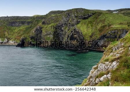 Rocky coast in Ireland - stock photo