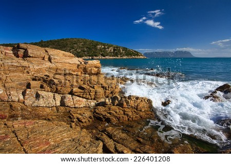 Rocky coast in northern Sardinia, Italy.