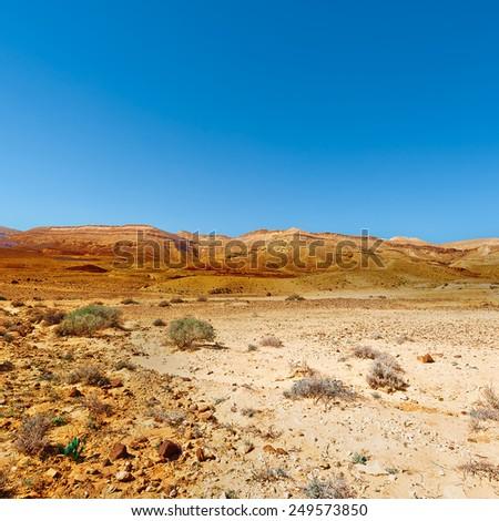 Rocky Hills of the Negev Desert in Israel - stock photo