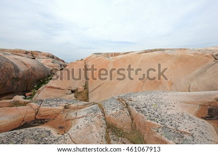 Rocky island outside Smogen West coast Sweden ten