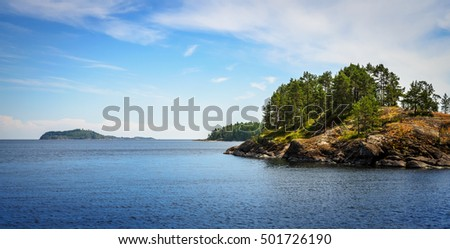 rocky islands in the water