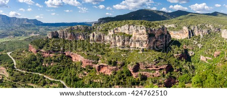 Rocky landscape around Siurana in Catalonia