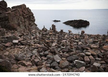 Rocky landscape, Bjarehalvon, Skane, Sweden - stock photo