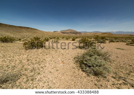 Rocky landscape in Death Valley National Park, CA - stock photo