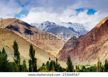 Rocky landscape of Ladakh, Jammu and Kashmir, India