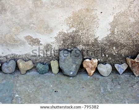Rocky love - stock photo