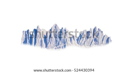 rocky mountain isolated on white background