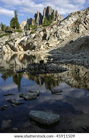 Rocky Mountain lake - stock photo