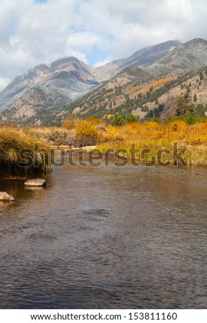 Rocky Mountain Landscape  in Fall