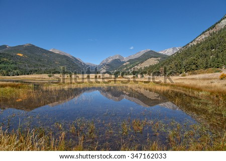 Rocky Mountain Reflection in Fall