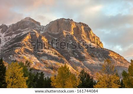 Rocky Mountains at Sunrise - stock photo