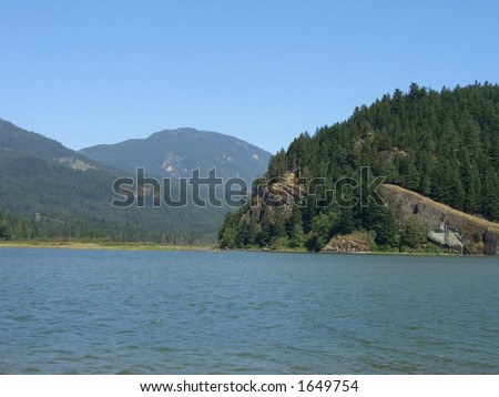 Rocky Mountains in B.C. - stock photo