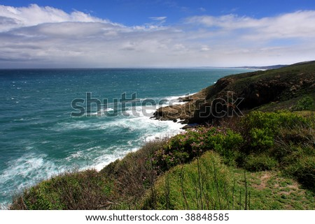 rocky ocean seascape cliff