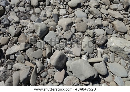 Rocky path in nature - stock photo