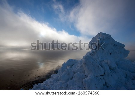 rocky sea coast ,Norway - stock photo