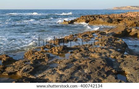 Rocky Seashore - stock photo