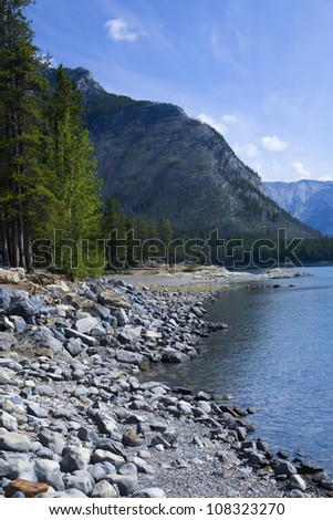 Rocky Shoreline - stock photo