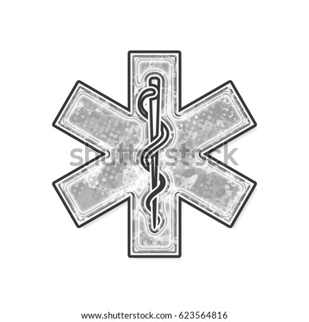 Rod Asclepius Snake Staff Medical Symbol Stock Illustration