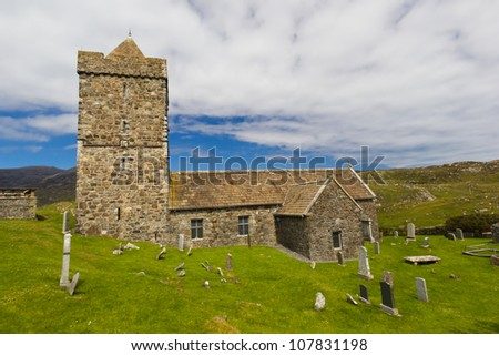 Rodel, Isle of Harris, Outer Hebrides, Scotland St Clement's Church at Rodel, on the Isle of Harris, was built in the late 15th century for the Chiefs of the MacLeods of Harris.