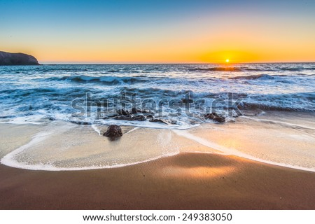 Rodeo Beach during sunset, San Francisco  - stock photo