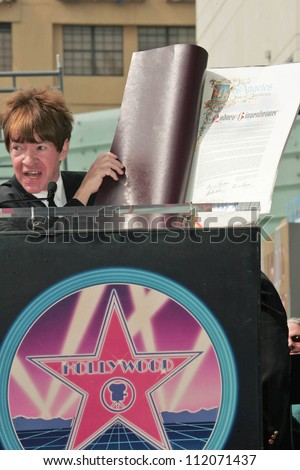 Rodney Bingenheimer at the Ceremony Honoring him with a star on the Hollywood Walk of Fame. Hollywood Boulevard, Hollywood, CA. 03-09-07