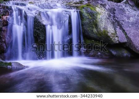 Rodopi mountain waterfall - stock photo