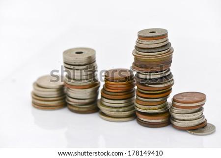 roe coin - stock photo