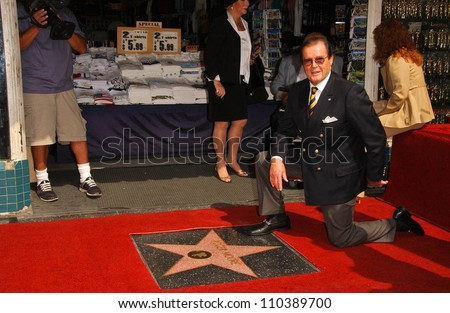 Roger Moore  at the ceremony honoring him with the 2,350th Star on the Hollywood Walk of Fame. Hollywood Boulevard, Hollywood, CA. 10-11-07 - stock photo