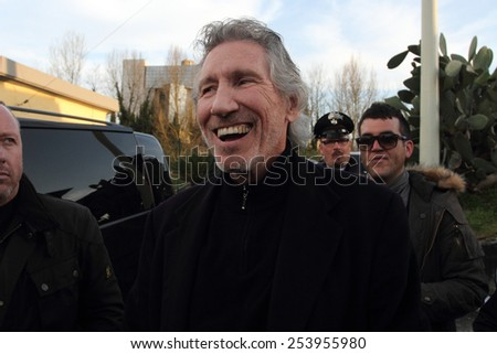 Roger Waters in Cassino 29/3/2013 to find his father's grave - stock photo
