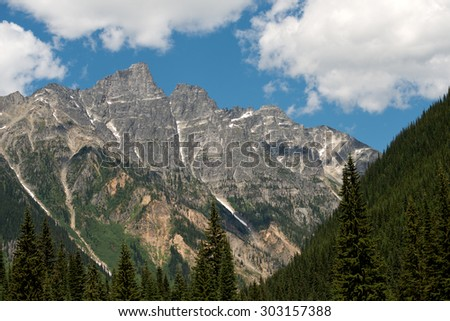 Rogers Pass, in British Columbia, Canada - stock photo