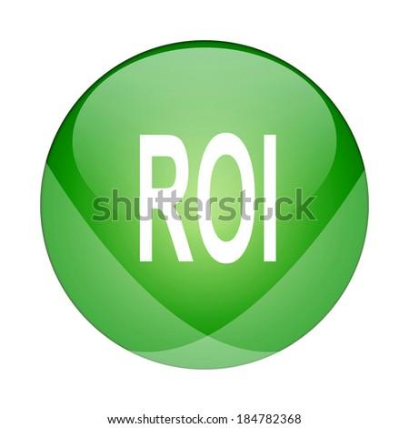 Roi icon - stock photo
