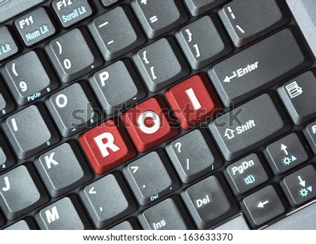 Roi on keyboard - stock photo