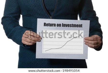 ROI or Return on investment business concept - stock photo