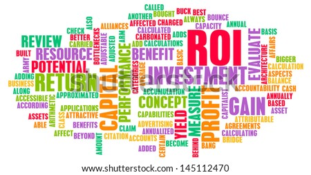 ROI or Return on Investment of Art Concept - stock photo