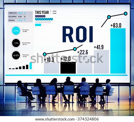 Roi Return On Investment Analysis Finance Stock Photo