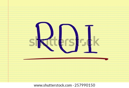 ROI - Return On Investment Concept - stock photo
