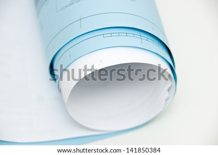 Role of blueprints - stock photo