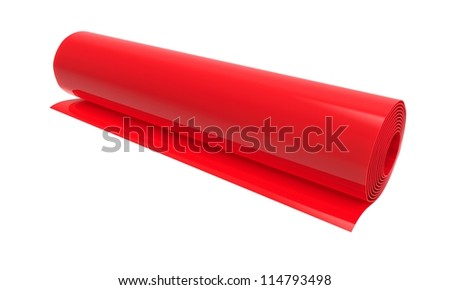 Roll of color cloudy plastic