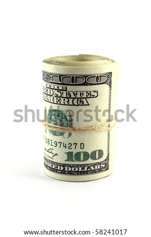 Roll of 100 dollar bills