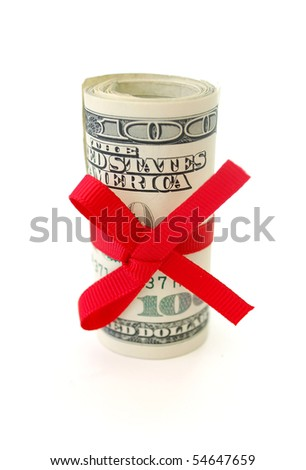 Roll of dollars - stock photo
