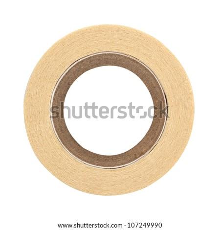 roll of masking tape on white - stock photo