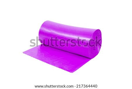 roll of pink garbage bags