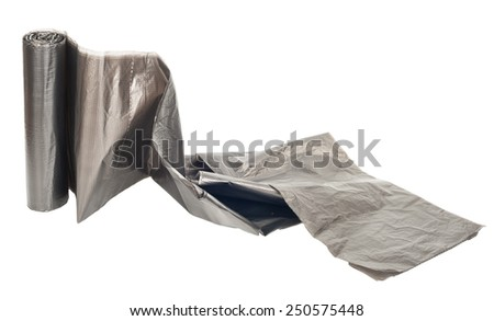 Roll of plastic garbage bags - stock photo